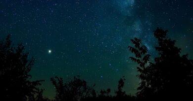 Зоряне небо над неосвітленим Катеринополем